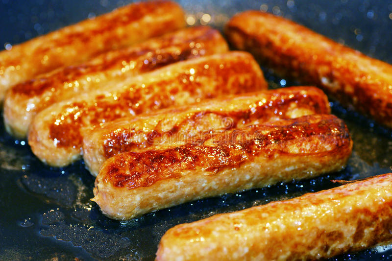 Download Cooking pork sausages stock image. Image of diet, eating - 34959915