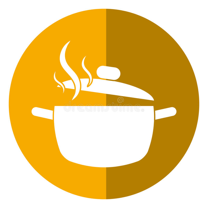 Cooking pot kitchen food shadow royalty free illustration