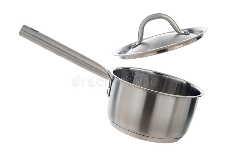 Cooking pot with lid stock photography