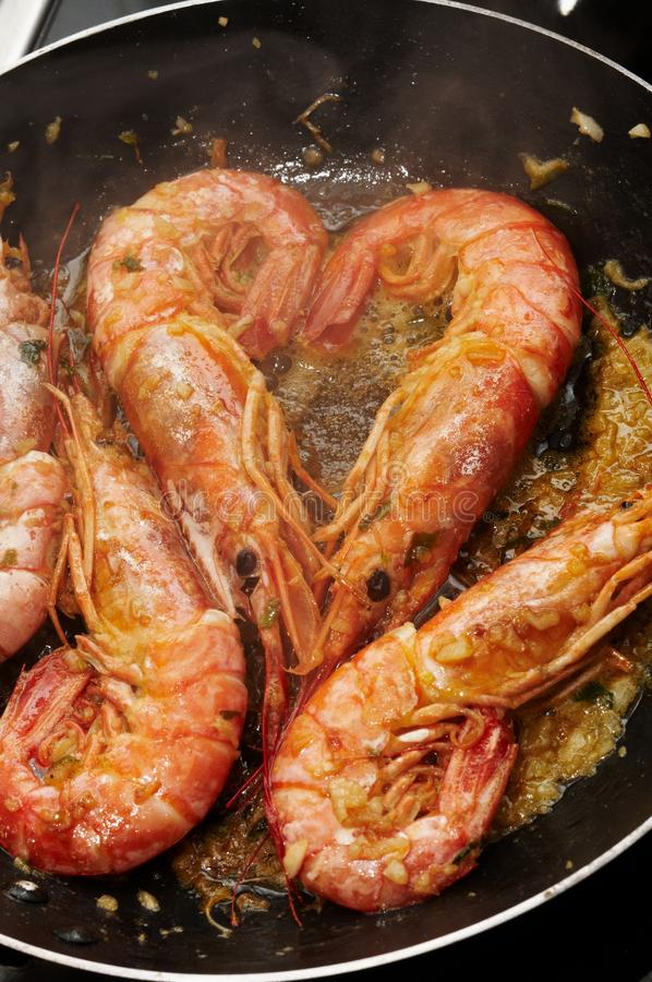 Download Cooking prawns stock photo. Image of contrast, focus - 12314944