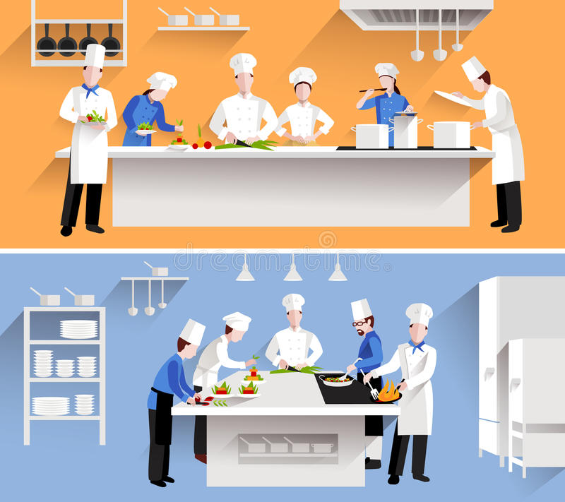 Cooking process illustration stock vector
