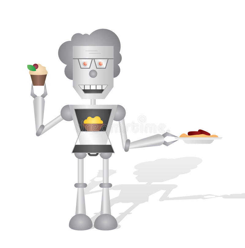 Download Cooking robot stock illustration. Image of prepare, afters - 33015386