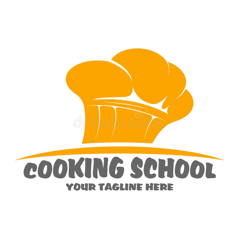 Cooking school logo design royalty free illustration