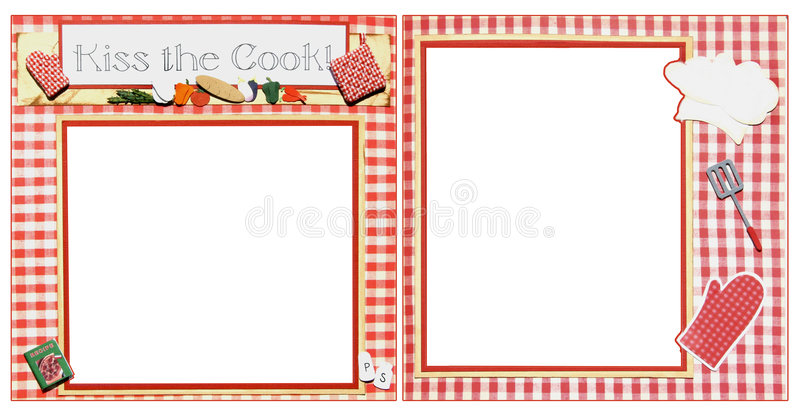Cooking Scrapbook Frame Template Stock Images