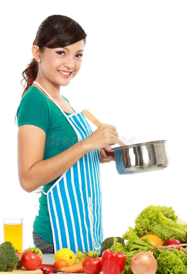 Cooking Something Royalty Free Stock Photography