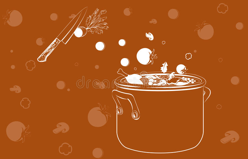 Cooking Soup With Vegetables Stock Photos