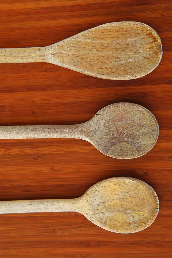 Cooking spoons stock images