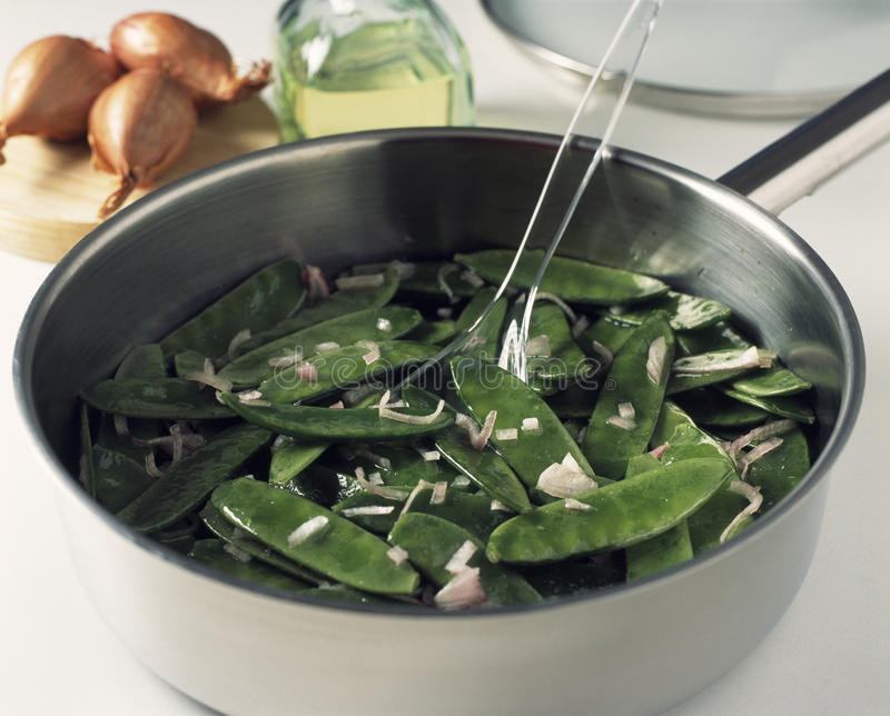 Download Cooking the sugar peas stock photo. Image of cook, cheese - 23705388