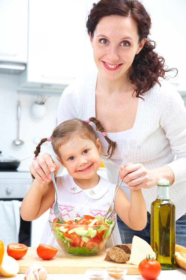 Download Cooking together stock image. Image of help, happiness - 22978879