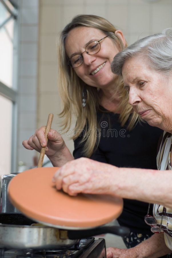 Free Cooking Together Royalty Free Stock Photo - 5094855