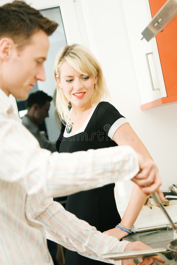 Download Cooking together stock photo. Image of flirting, happy - 6543482
