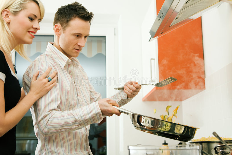Download Cooking together stock photo. Image of happy, prepare - 6543500