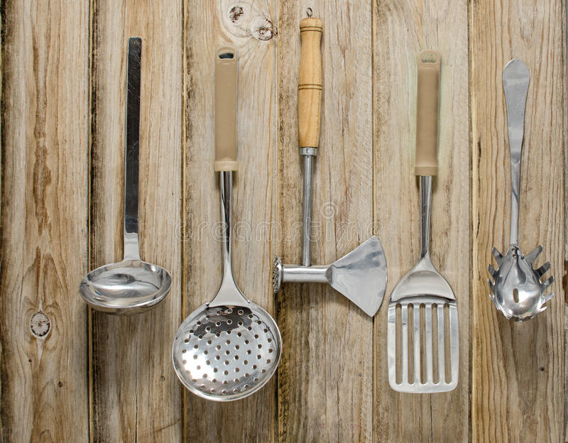 Download Cooking Tools stock image. Image of squeegee, planks - 33035265