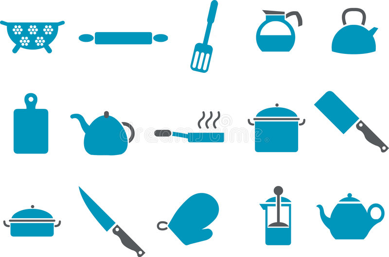 Download Cooking Tools Icon Set stock vector. Illustration of trencher - 8692037