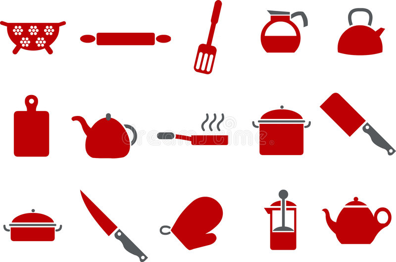 Download Cooking Tools Icon Set stock vector. Image of steamer - 8984204