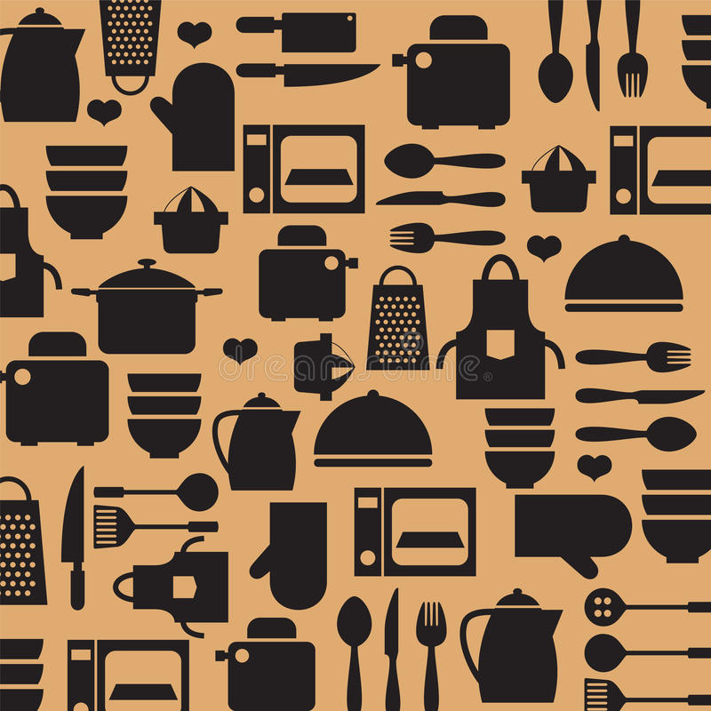 Cooking Tools And Utensil Background. stock illustration
