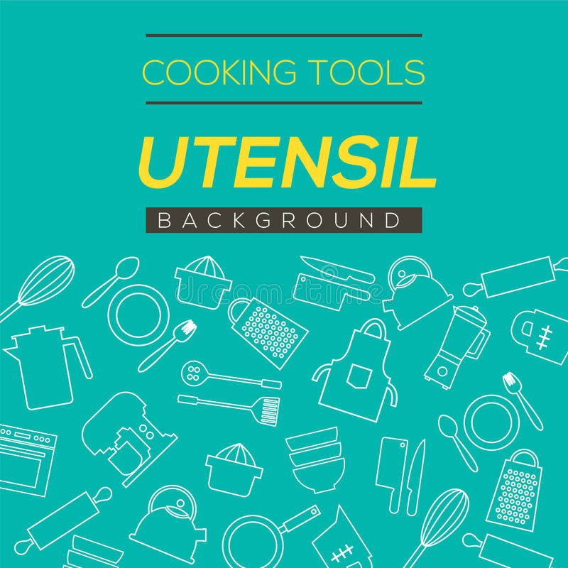 Cooking Tools And Utensil Background. royalty free illustration