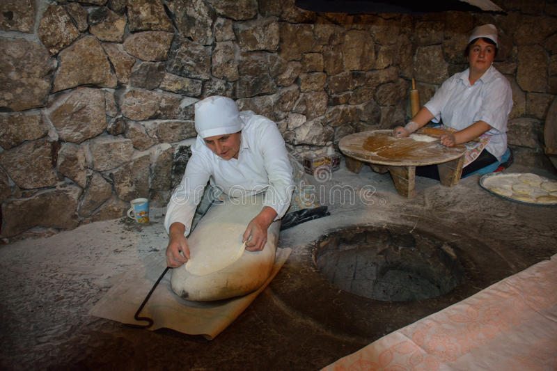 Cooking traditional lavash royalty free stock photography