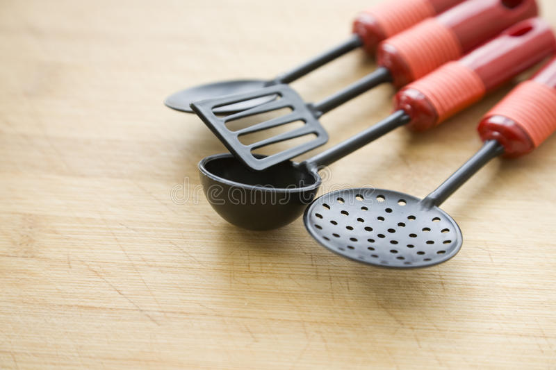 Cooking Utensil On The Chopping Royalty Free Stock Image