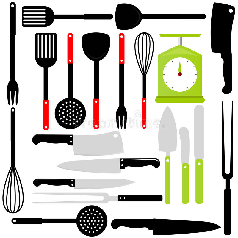 Download Cooking Utensil, Knives, Baking Equipments Stock Vector - Image: 22324935