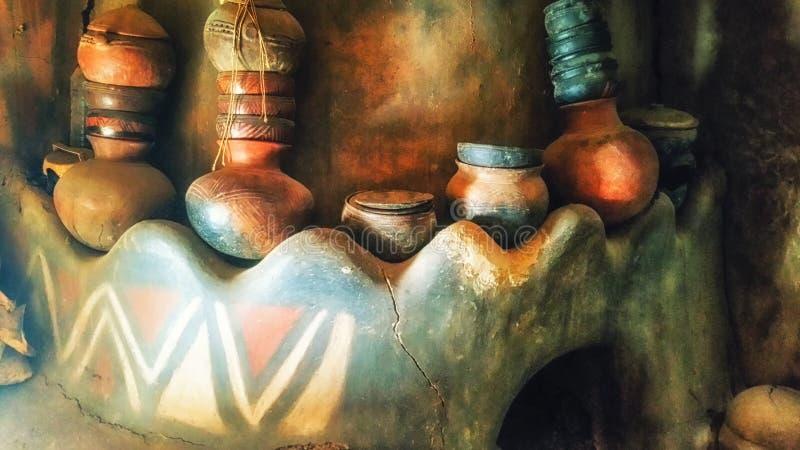 cookingware bij Talensi-Dorp, Ghana royalty-vrije stock afbeeldingen