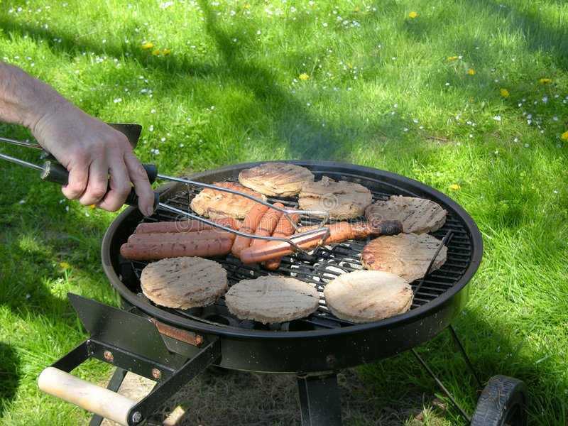 Download Cookout 1 stock image. Image of food, cookout, summer, hotdogs - 119825