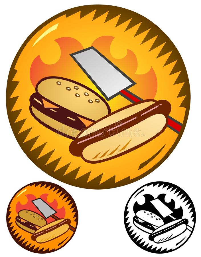Cookout emblemat ilustracji