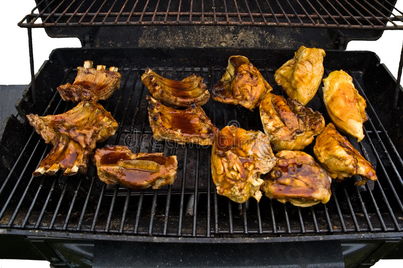 Download Cookout on a Gas Grill stock photo. Image of gate, leisure - 789786
