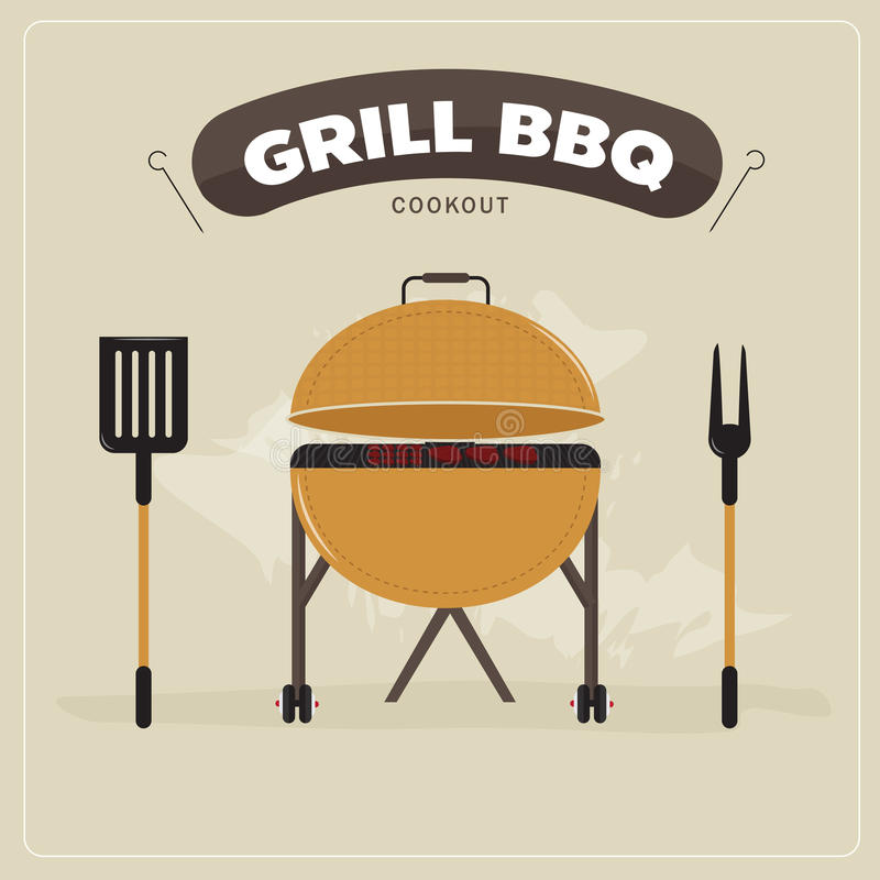 COOKOUT grilla BBQ ilustracji