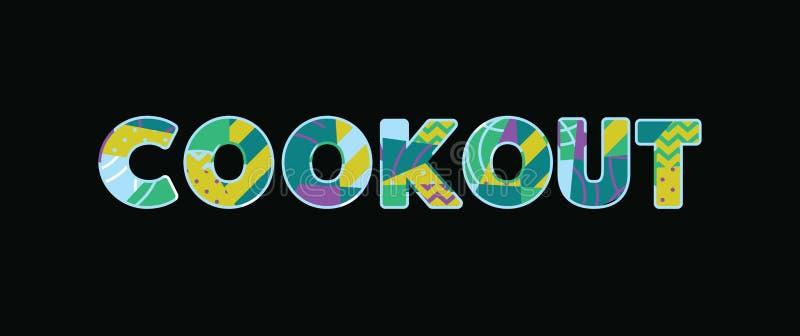 Cookout pojęcia słowa sztuki ilustracja ilustracji