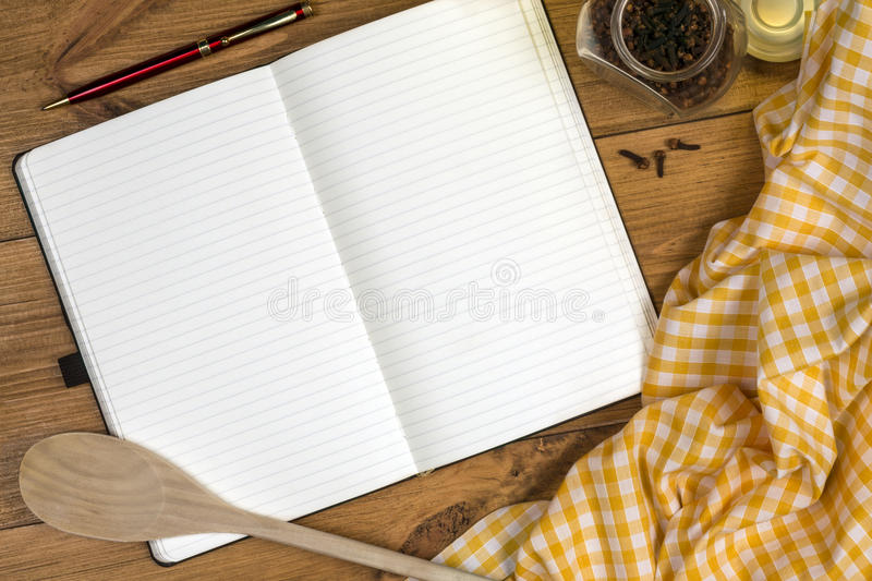 Cooks Notebook - Space for Text royalty free stock photo