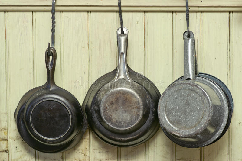 Cookware antique image stock