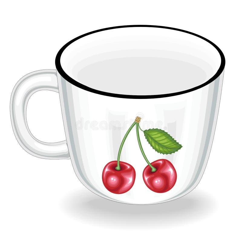 cookware Een kop is nodig in de keuken in de keuken Van het drinken zij thee, koffie, andere dranken Vector illustratie stock illustratie