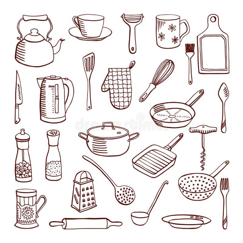 Cookware, ejemplo del vector ilustración del vector