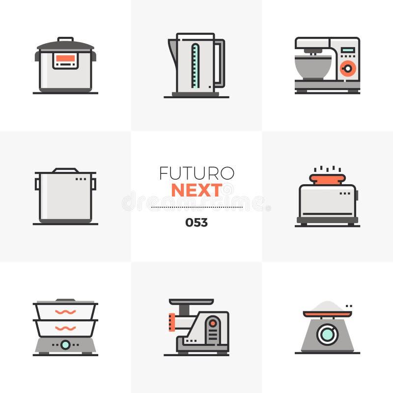 Cookware Futuro Następne ikony royalty ilustracja