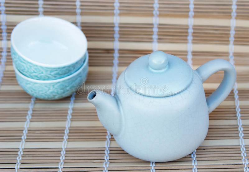 Cookware réglé pour le thé image stock