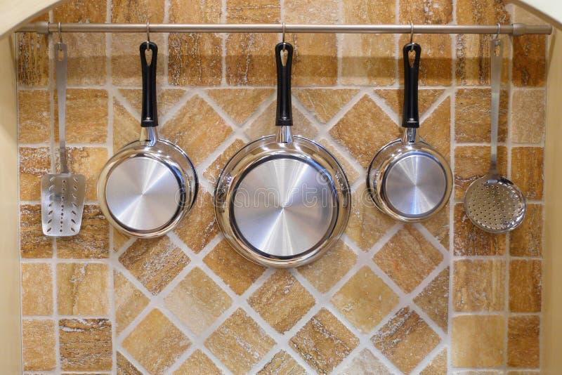 Cookware set. A nice cookware set arrangement royalty free stock photography