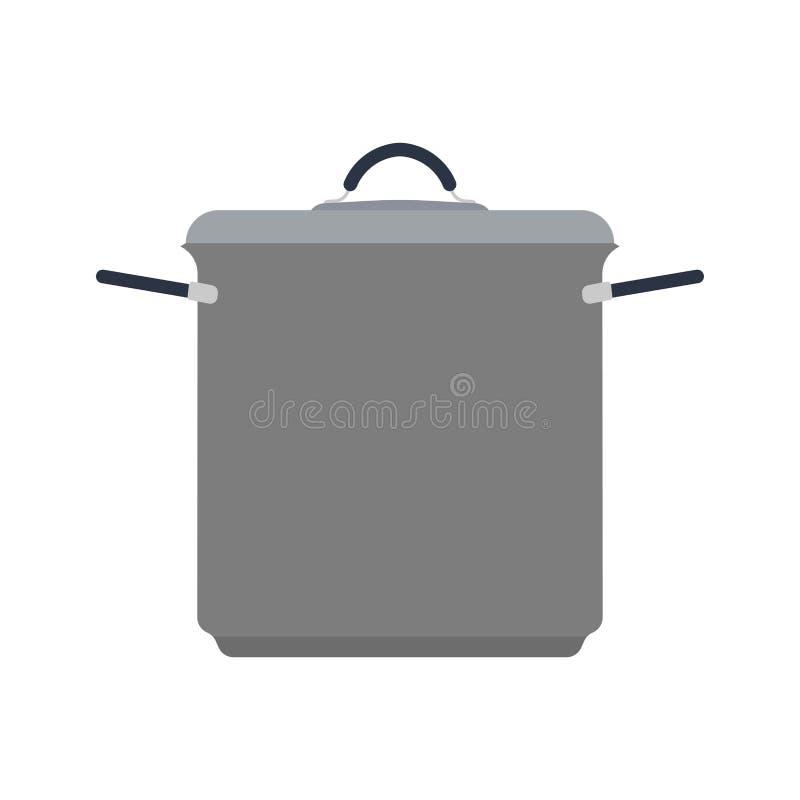 Cookware symbolu kuchni domowy wnętrze Rękojeść szefa kuchni dishware kulinarnego narzędzia wektorowa płaska ikona ilustracja wektor