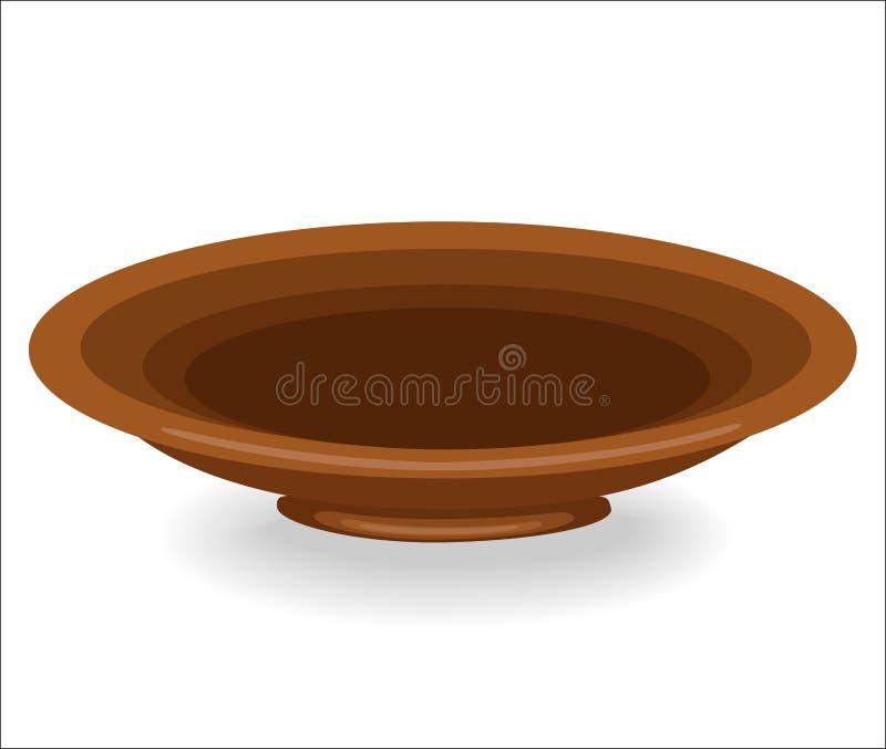 cookware Un cuenco es necesario en la cocina en la cocina En su vierta la comida durante almuerzo desayuno, cena Cuenco de la arc ilustración del vector