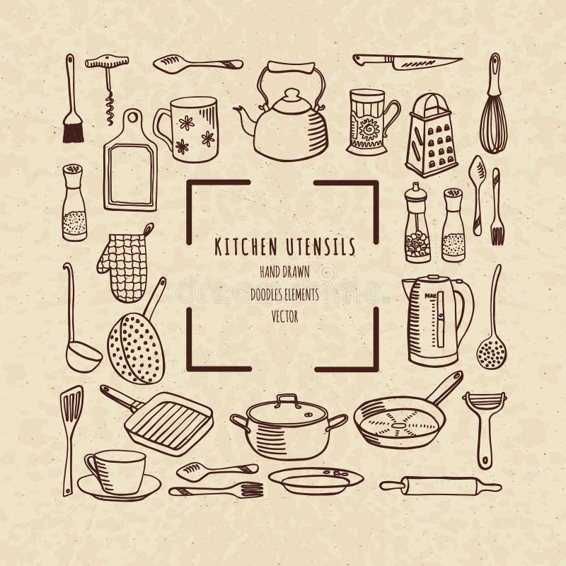 Cookware, wektorowa ilustracja royalty ilustracja