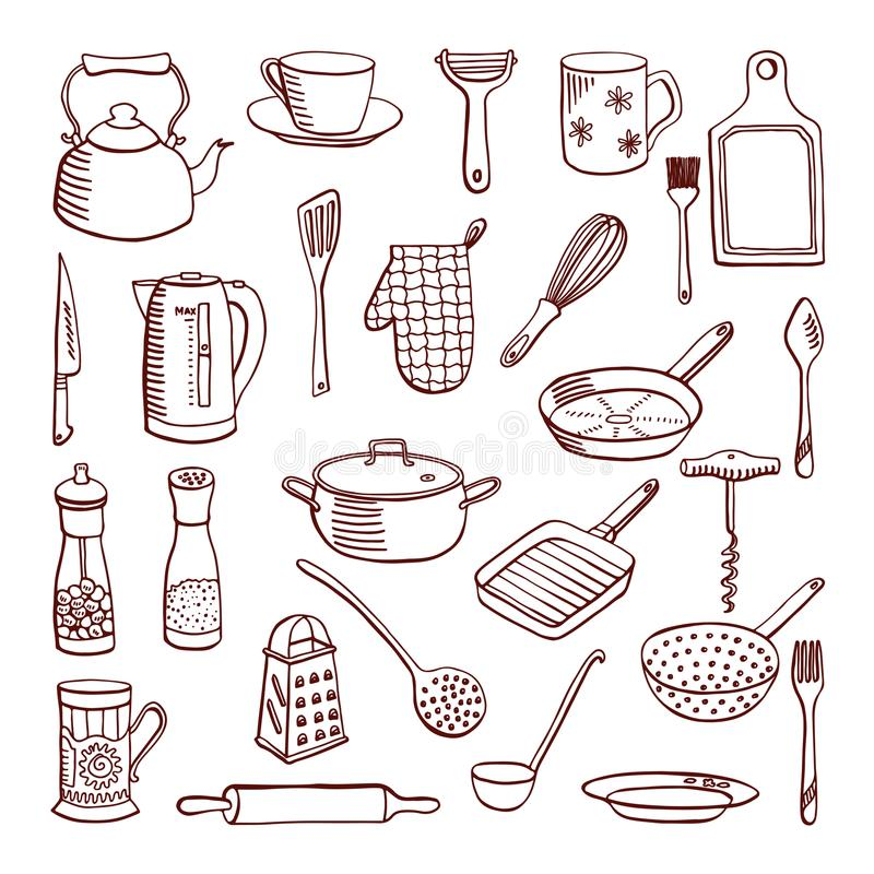 Cookware, wektorowa ilustracja ilustracja wektor