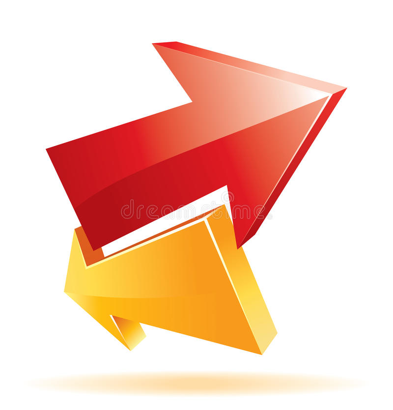 Cool 3d arrows. For your business artwork stock illustration