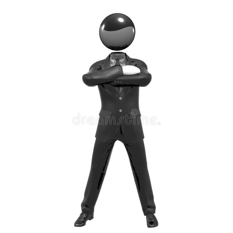 Download Cool 3d Businessman Team Icon On Tuxedo Stock Illustration - Image: 10724843