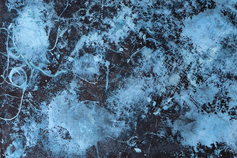 Cool Abstract Grunge Decorative See Blue Dark Stucco Wall Background royalty free stock photography
