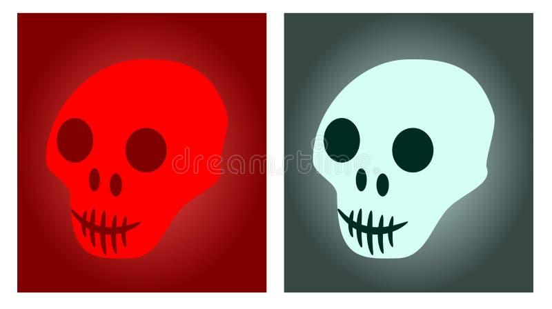 Cool Atmospheric Skull Logos - Cool Vector Illustrations. 2 Atmospheric, Glowing Skull Logos - Cool Vector Illustrations vector illustration