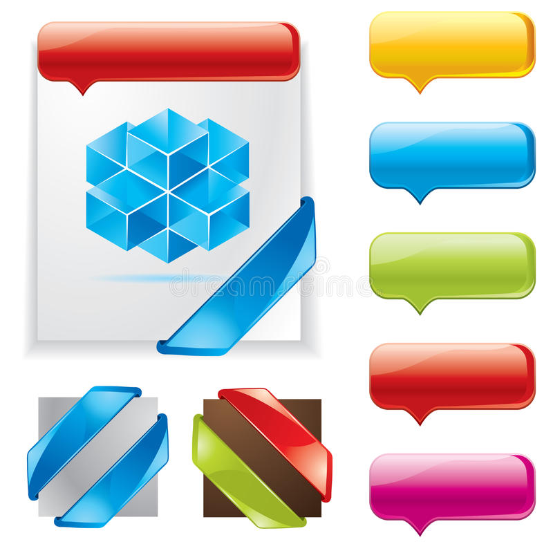Cool banners and corners vector illustration