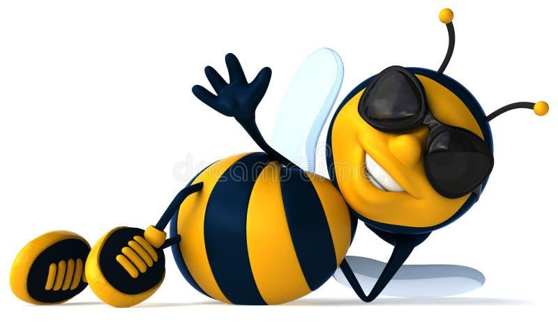 Cool bee vector illustration