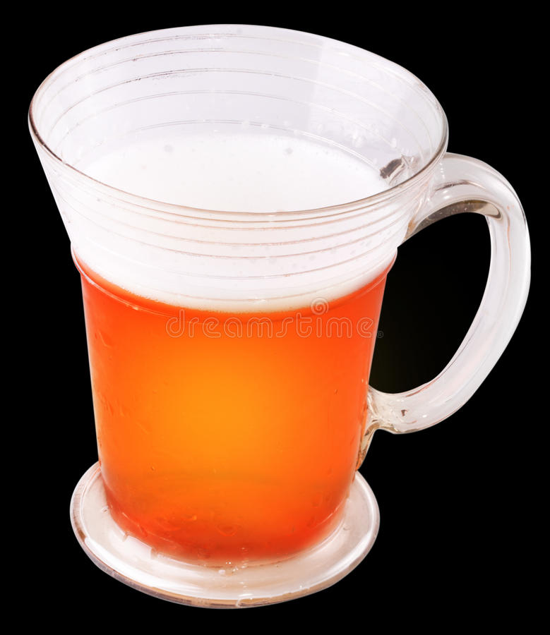 Cool beer isolated stock photo