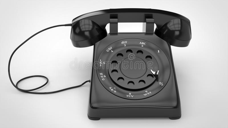 Cool black retro telephone stock photography