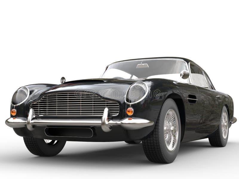Cool Black Vintage Car - Beauty Studio Shot vector illustration